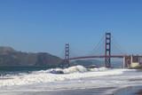 California beach at the Golden Gate Bridge