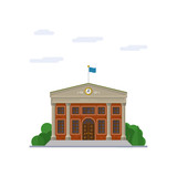 Town Hall flat design vector illustration