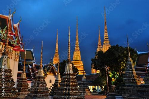 Fotobehang Bangkok Stupa of Wat Pho in Thailand, Thailand