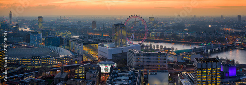 Foto Murales Golden London Skyline