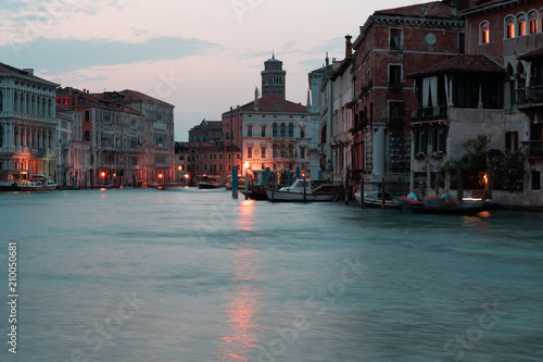 Venice canals and boats, Italy