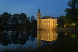 The beautiful castle Bouvigne near Breda in great light during the blue hour.