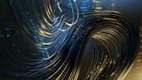 Kabel vor abstraktem technischem Hintergrund - 210053853