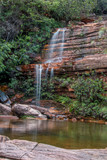 Little Waterfall Found Outside the City of Lençois in the State of Bahia, Brazil - 210062253