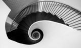Stairs in the shape of a snail