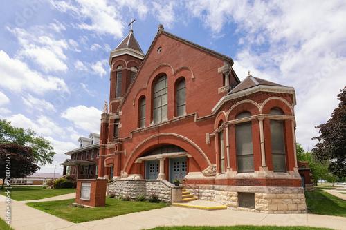 Plexiglas Route 66 Church in Illinois on old route 66