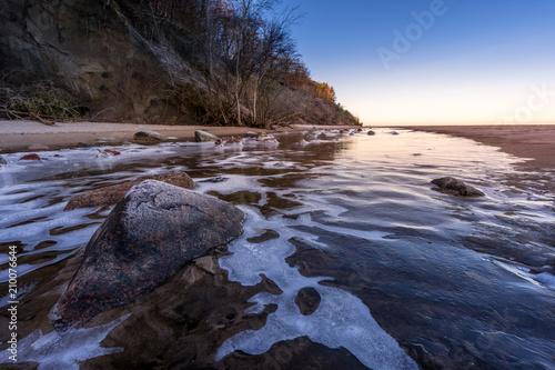 Foto Murales Winter an der Ostsee