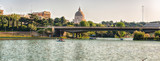 Scenic view over the lake of EUR in Rome, Italy