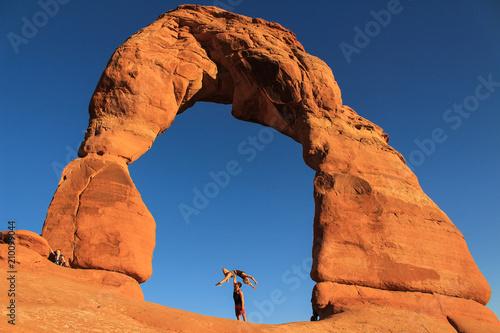 Aluminium Oranje eclat Ballet in Delicate Arch, Utah