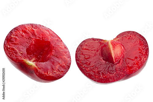 Aluminium Kersen Cherry fruit isolated on white