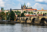Charles Bridge and Cathedral in Prague, Czech Republic - 210109660