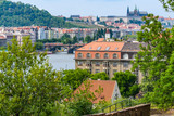 Panoramic view from Vysehdra Hill in Prague, Czech Republic