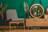 Green vintage room interior concept