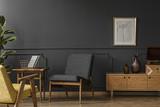 Wooden furniture in vintage room - 210117459