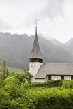 Church of Blessed Virgin Mary in Zweisimmen. Canton of Bern. Switzerland. - 210138497