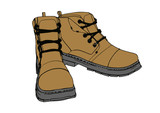 brown vector boots - 210142040