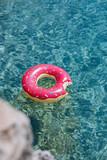 Doughnut Ring on Turquoise Sea - 210163449