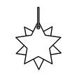 star decorative hanging icon vector illustration design