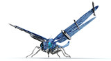 digital war concept electronic computer dragonfly isolated - 210180819