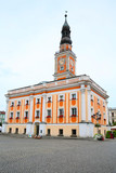 The historic city hall in Leszno, Wielkopolskie, Poland