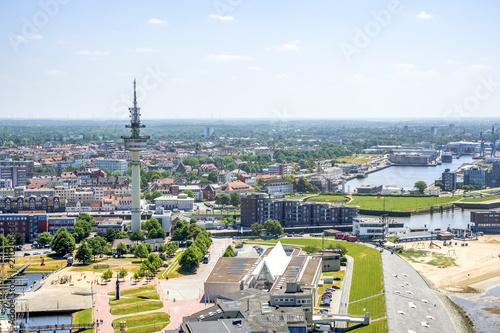 Leinwanddruck Bild Bremerhaven, Hafenwelten