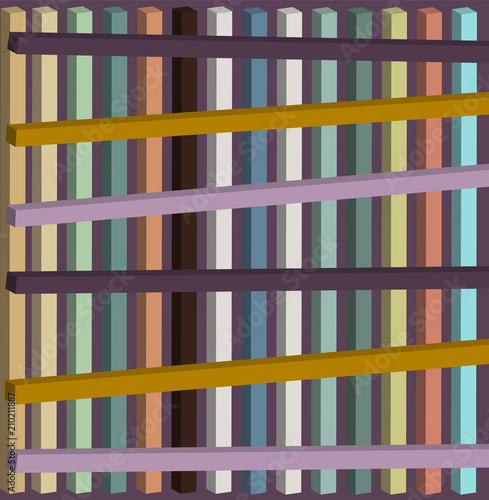 Fototapeta geometric composition of colors and 3d shapes
