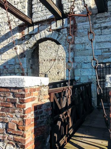 Foto Murales The drawbridge inside the fortress of Brescia