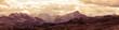 Quadro Panoramic view of Italian Dolomites mountains