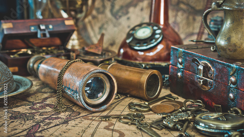Telescope And Pirate Collection