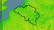 Leinwandbild Motiv Belgium, diurnal range - dark glow