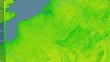 Leinwandbild Motiv Belgium, diurnal range - raw data