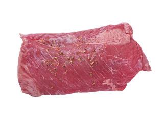 Corned beef isolated on white background