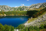 Tateyama mountain peak and Mikurigakei pond.  立山連峰とみくりが池 日本三大霊山 富山県立山町