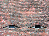 Famous eyes. Windows in the roof made in the form of eyes. - 210289696