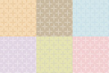 Six seamless patterns with hearts.
