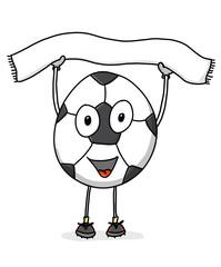 Fußball mit Schal