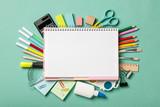 School supplies background - 210302606