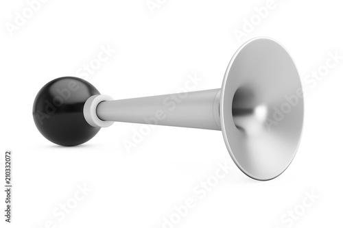 Silver Vintage Bicycle Air Horn. 3d Rendering
