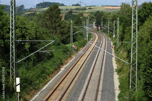 Aluminium Spoorlijn Gleise und Bahnstrecke