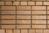 Yellow masonry brick texture - 210361261