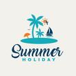 Summer holiday illustration design.