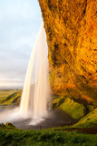 Seljalandsfoss waterfall - one of the most famous and beautiful waterfalls, Iceland
