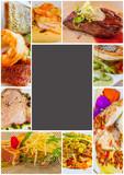 cadre de plats cuisinés gourmands - 210387890