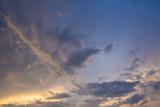 Clouds and sky, evening sun