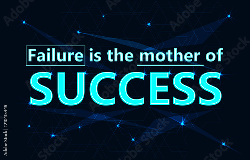 Success quote in modern typography