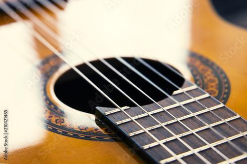 Guitar strings, sunlight - 210421465