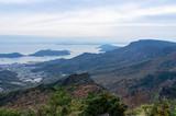 夕方の小豆島、寒霞渓からの景色(香川県、日本) - 210428266