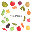 Color flat vegetables icons set