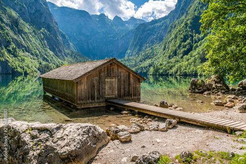Bootshaus am Obersee beim Königssee in Berchtesgaden