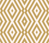 Linear seamless abstract background with rhombuses. Striped infinity geometric pattern.  Vector illustration. - 210452036